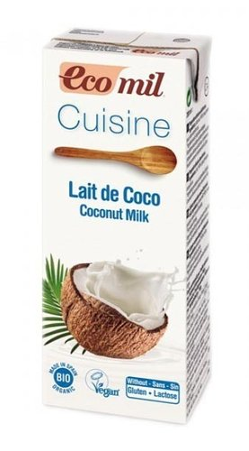 Cream Coconut Milk for Cooking 200ml - Ecomil